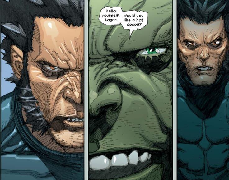 Hulk, Wolverine, hot cocoa