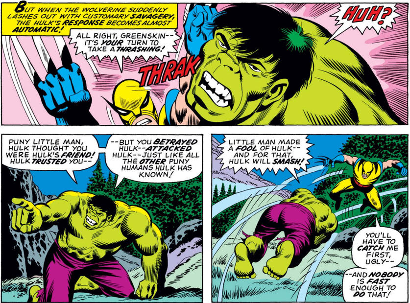 Hulk and Wolverine's first fight