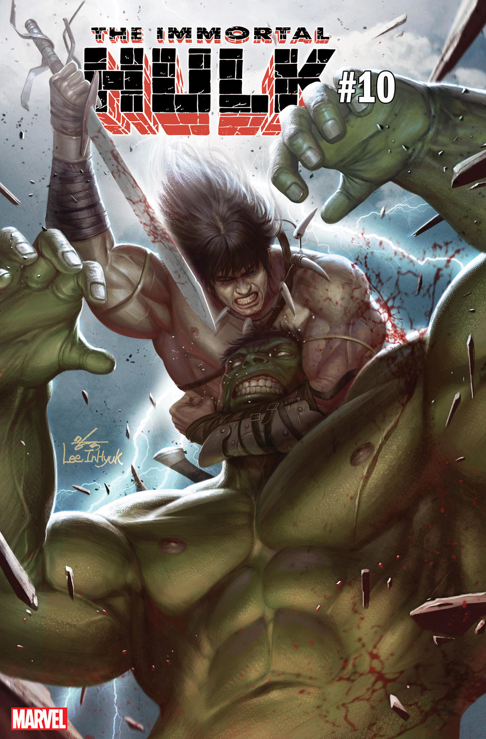 IMMORTAL HULK #10 Conan variant cover by Inhyuk Lee