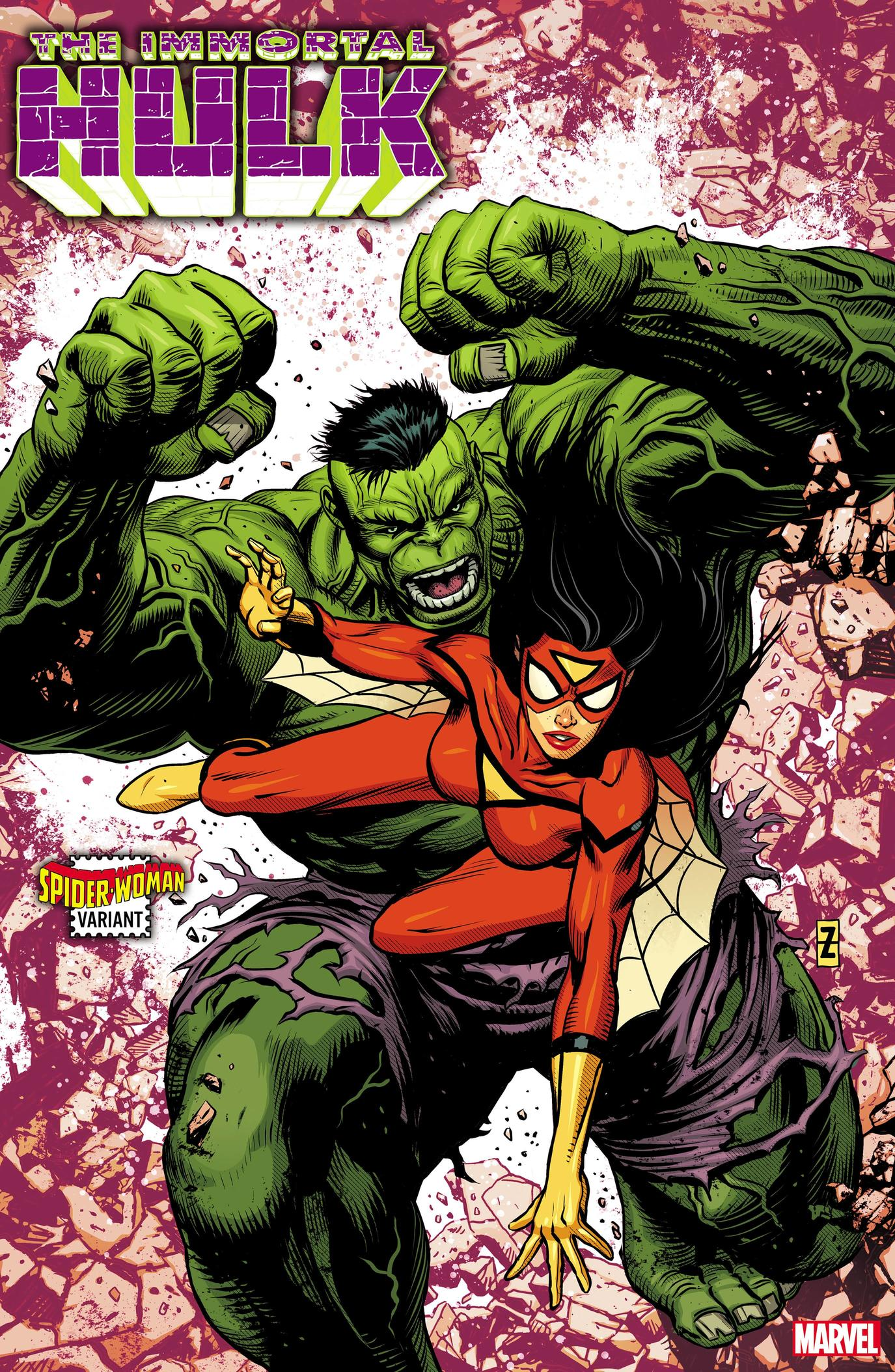 IMMORTAL HULK #32 SPIDER-WOMAN VARIANT by PATCH ZIRCHER with colors by DAVE McCAIG