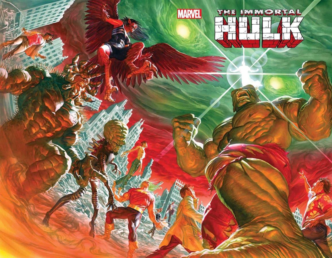 IMMORTAL HULK #50 cover by ALEX ROSS