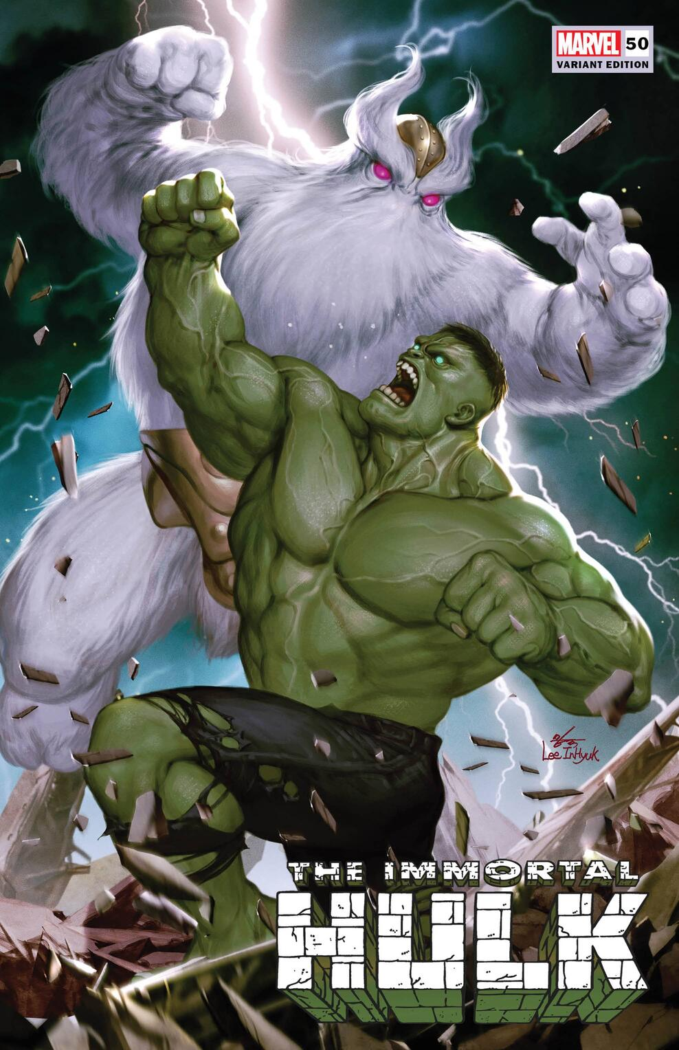 Immortal Hulk #50 Immortal Moments Variant Cover by InHyuk Lee