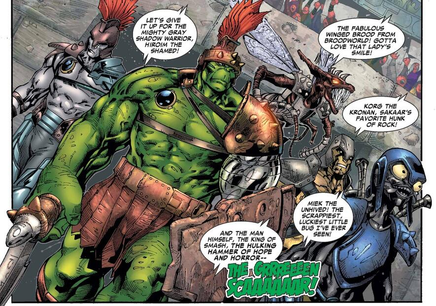 The Green Scar enters the ring from HULK (1999) #95.