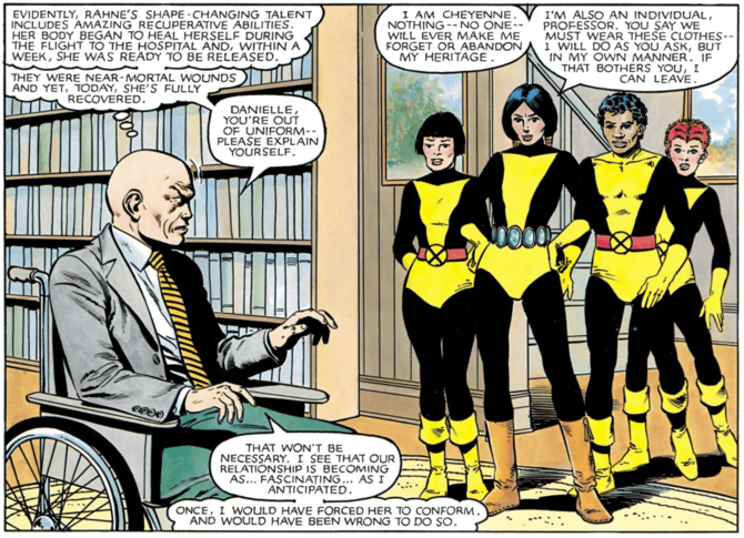 Professor X Charles Xavier Dani Moonstar MARVEL GRAPHIC NOVEL NO. 4: THE NEW MUTANTS (1982)