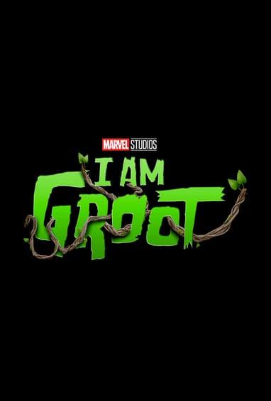 Marvel Studios I Am Groot Disney Plus TV Show Season 1 Logo on Black