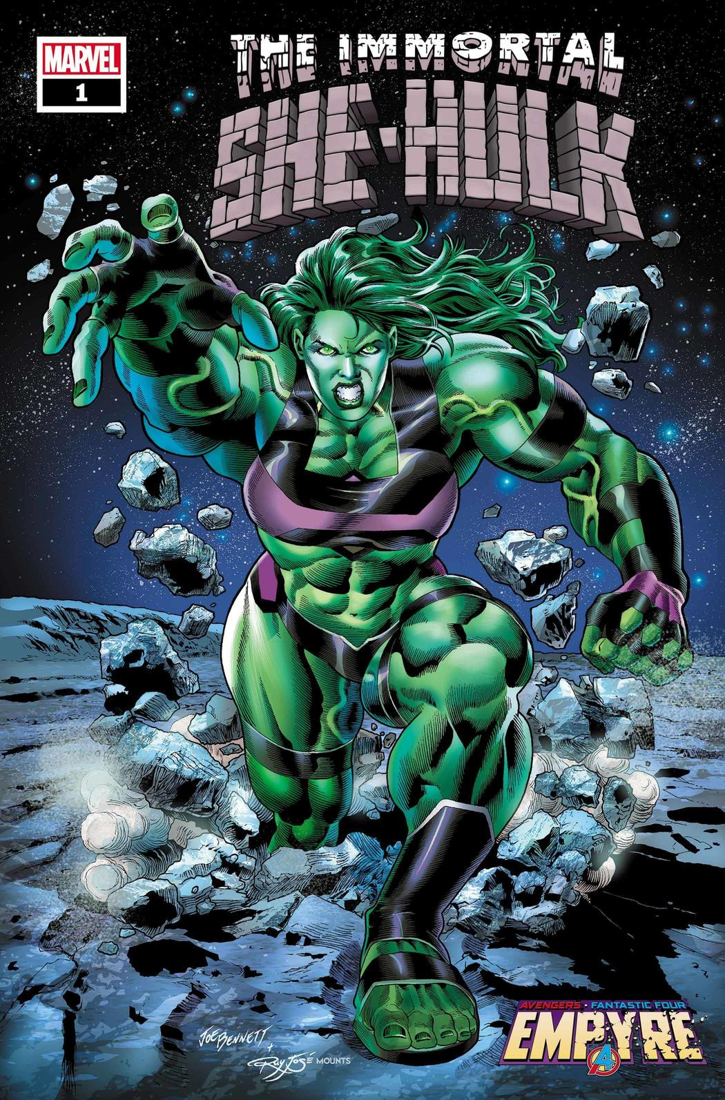 IMMORTAL SHE-HULK #1 WRITTEN BY AL EWING, ART BY JON DAVIS-HUNT, COVER BY JOE BENNETT