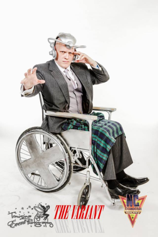 Christopher Parker AKA To Baldly Go Cosplay as Professor Xavier