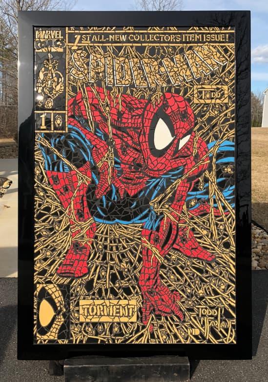 Shattered Spider-Man mosaic