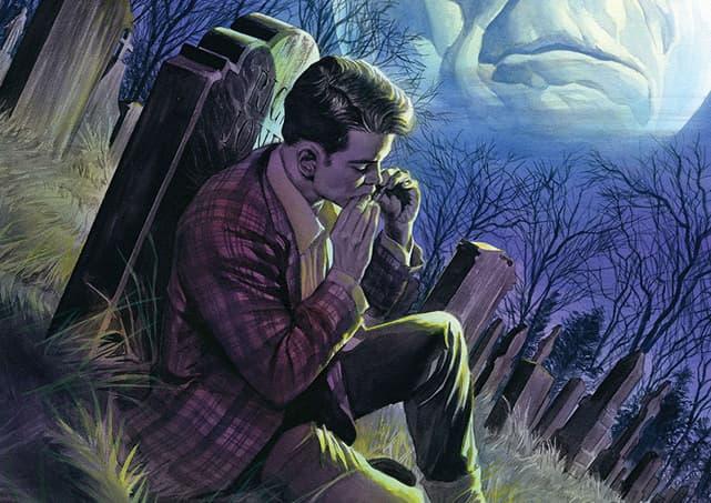 Rick Jones at grave