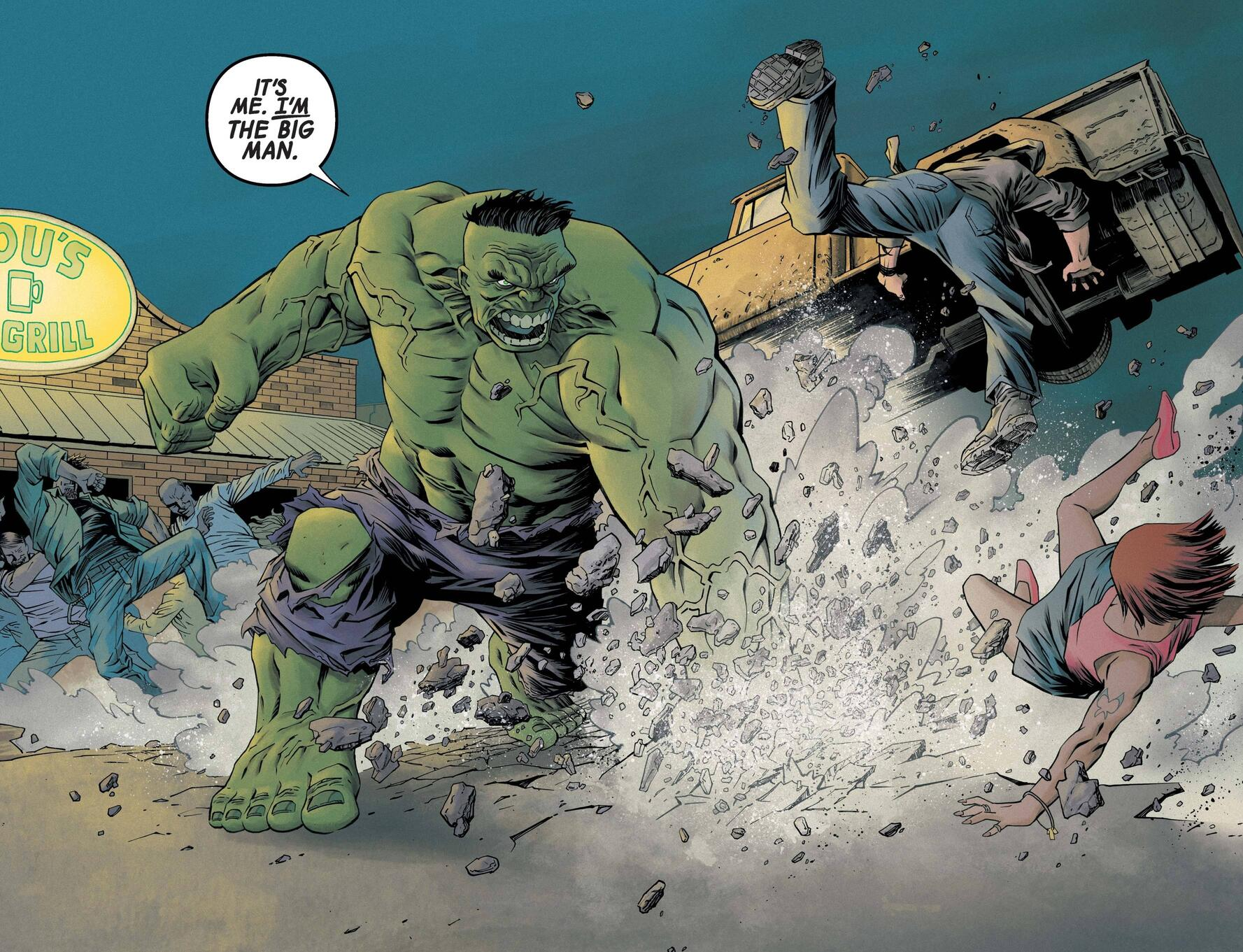 Immortal Hulk crashes the scene in New Mexico.