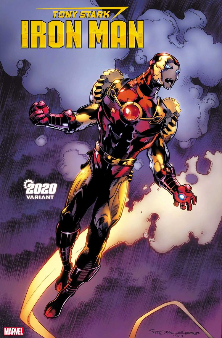 TONY STARK: IRON MAN #19 2020 VARIANT by LARRY STROMAN with inks by MARK MORALES and colors by JASON KEITH
