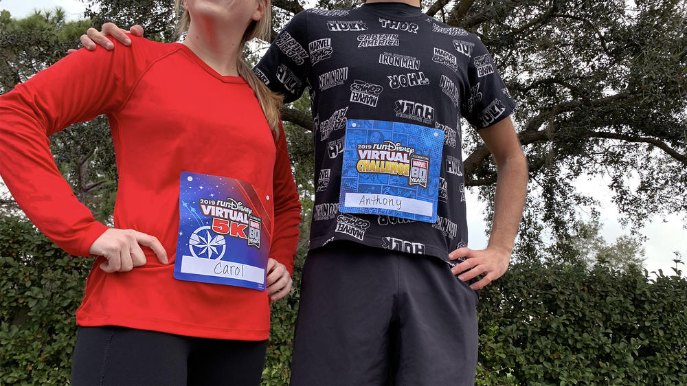 runDisney Virtual Series bibs