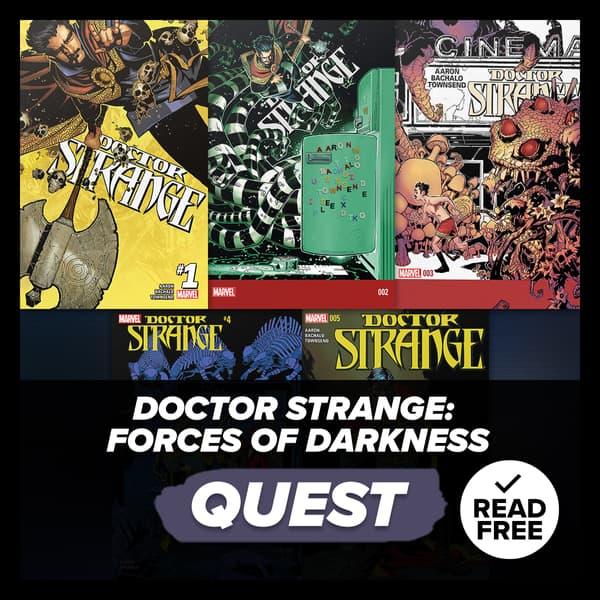 Marvel Insider Activity Doctor Strange: Forces of Darkness Read DOCTOR STRANGE (2015) #1-5 Reading Quest