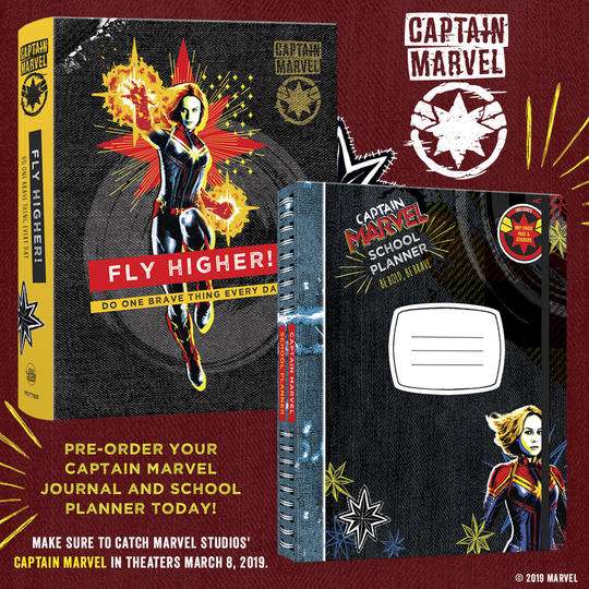 Captain Marvel inspiration journal