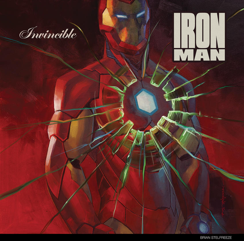 "Cover art: Iron Man standing behind cracked glass for 50 Cent's incendiary 2003 debut, ""Get Rich Or Die Tryin'"""