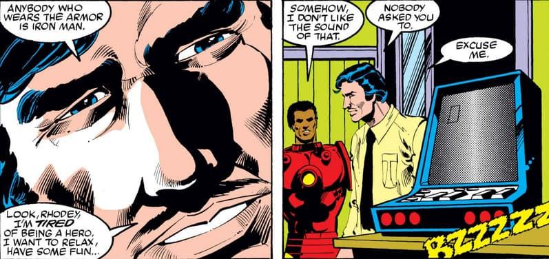 Tony Stark quits