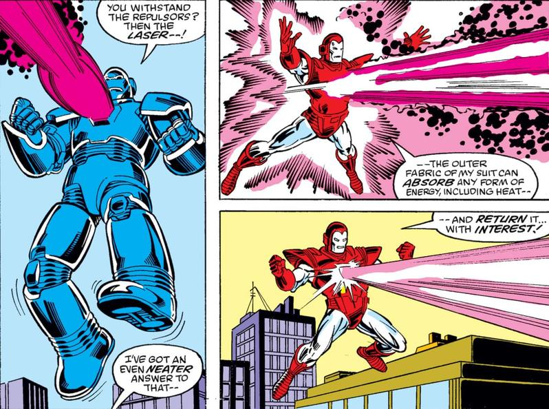 Iron Man battles Obadiah Stane
