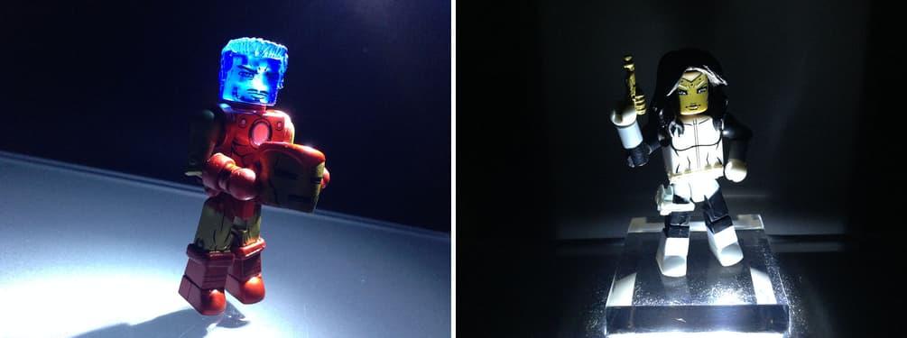 Holographic Iron Man and Madame Masque Marvel Minimates