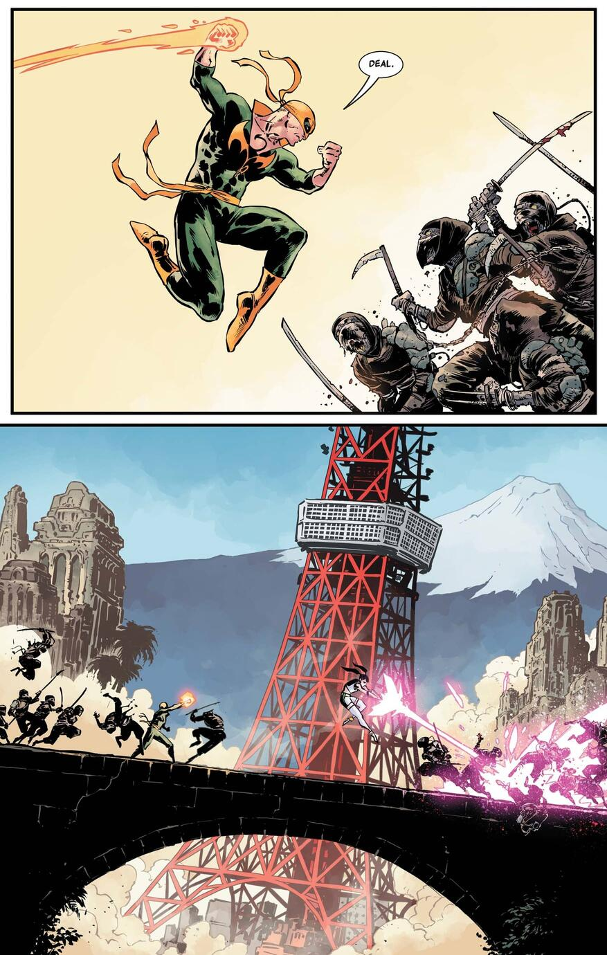 Danny Rand: Iron Fist versus a zombie horde.