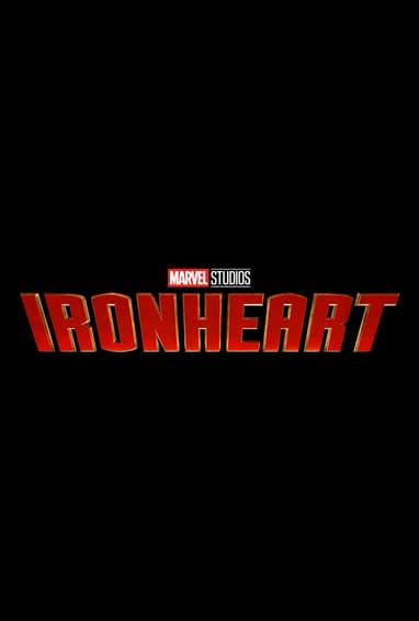 Marvel Studios Ironheart Disney Plus TV Show Season 1 Logo on Black