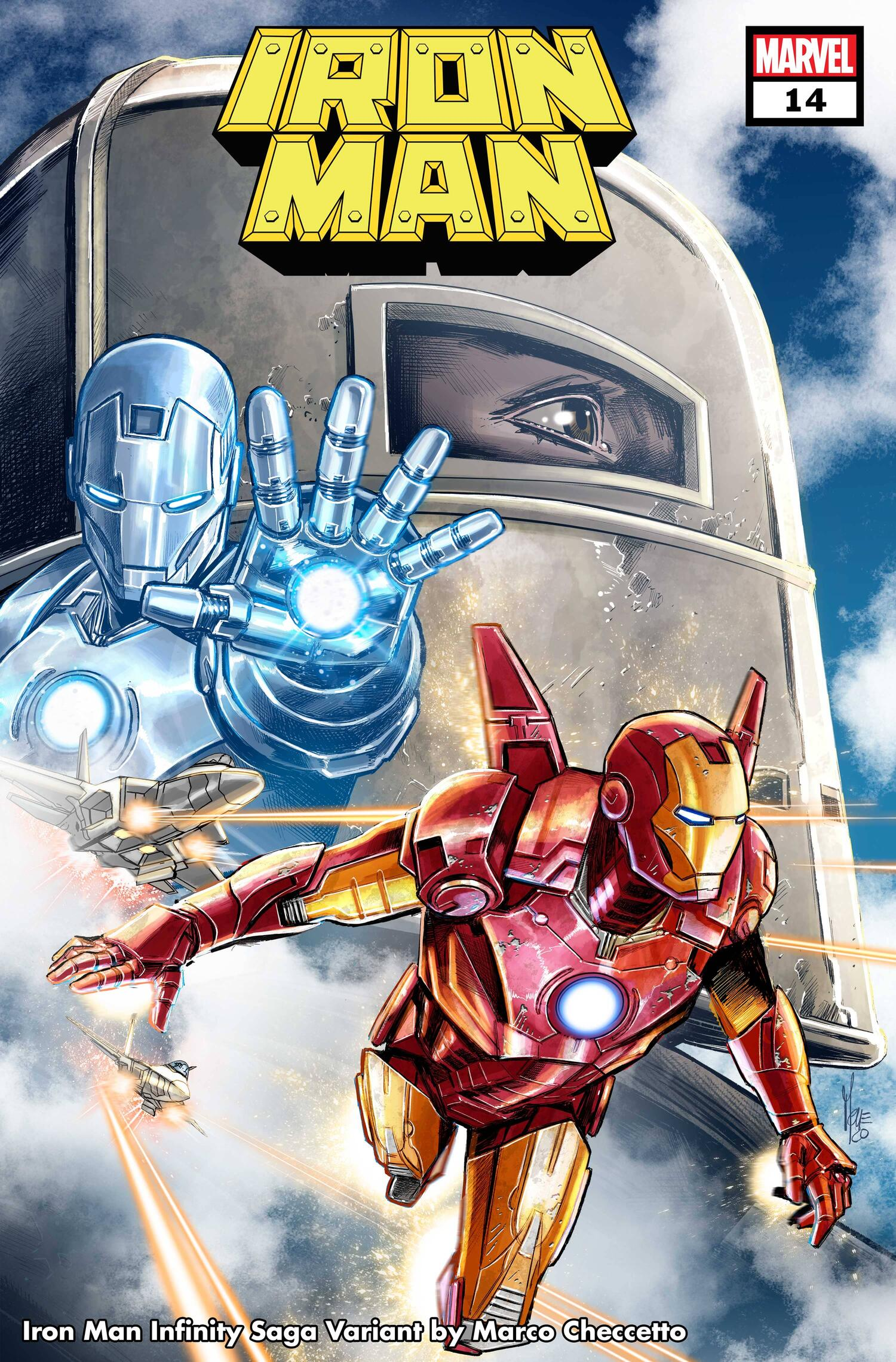 IRON MAN #14 INFINITY SAGA VARIANT COVER by MARCO CHECCETTO