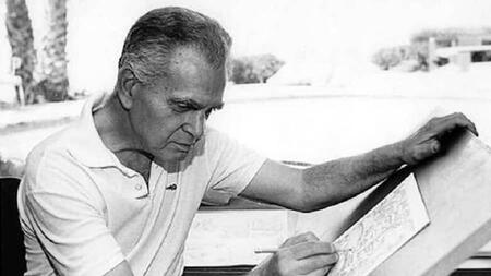 Jack Kirby at work as an artist.