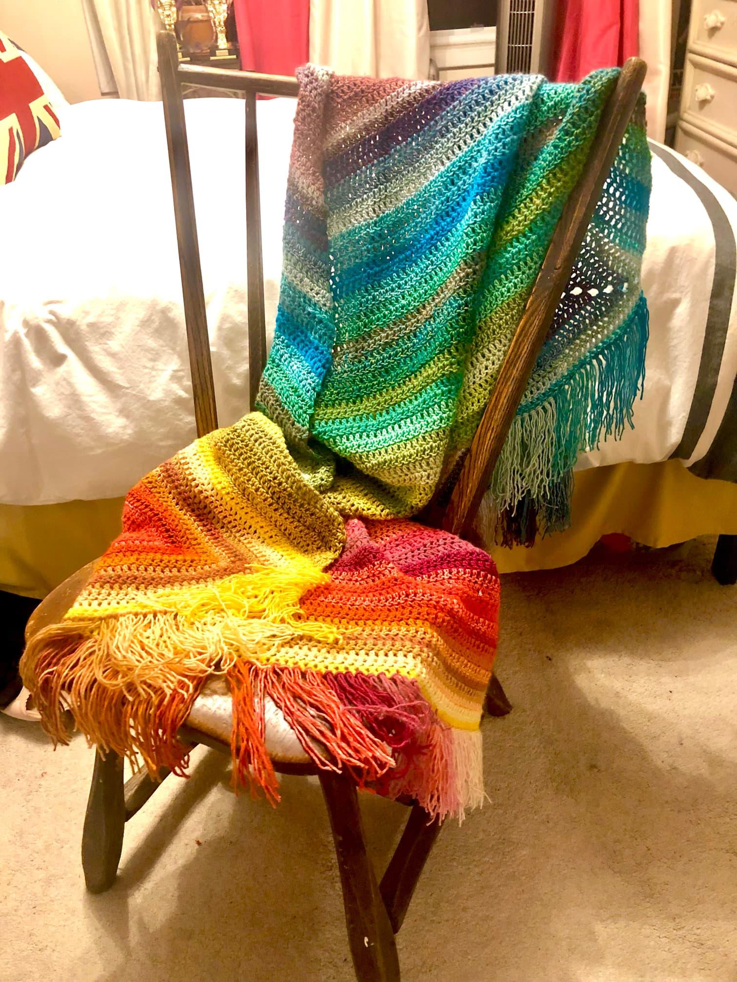 Jen Grunwald crocheted shawl