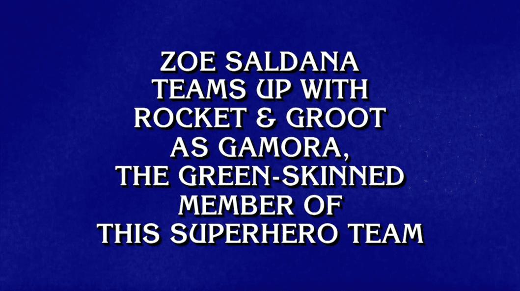 Marvel on Jeopardy