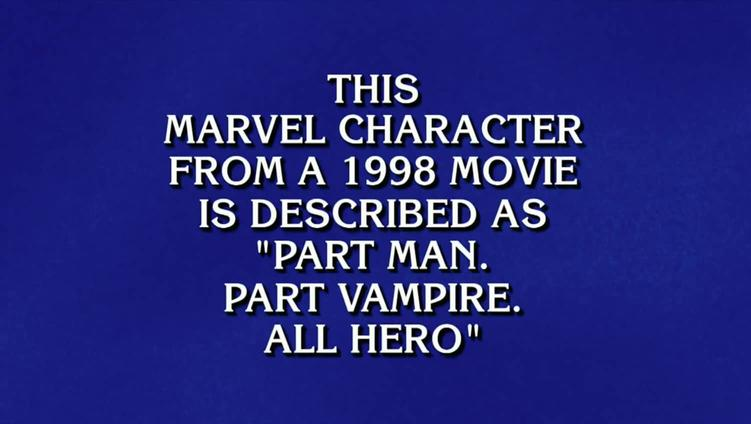 Jeopardy Marvel Clue
