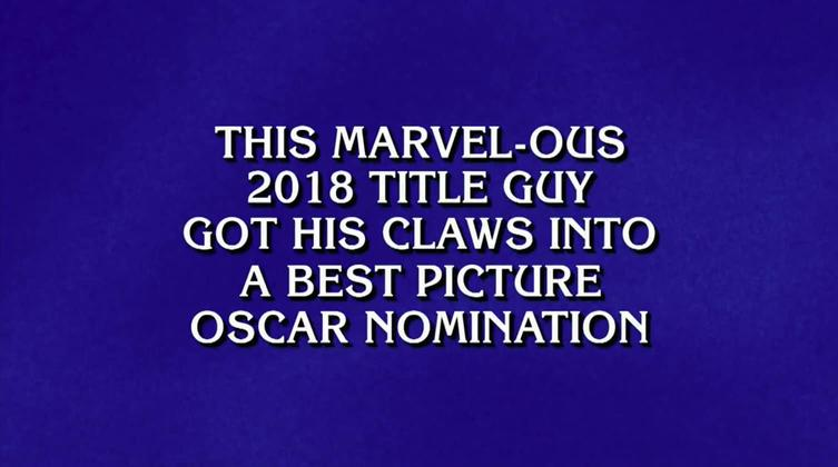Black Panther on Jeopardy