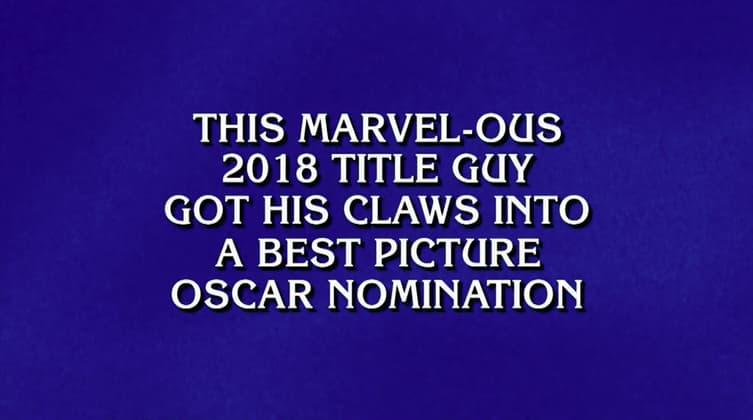 Black Panther on Jeopardy