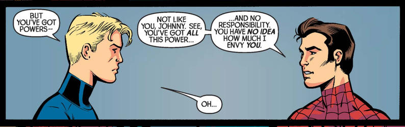 Johnny Storm and Peter Parker