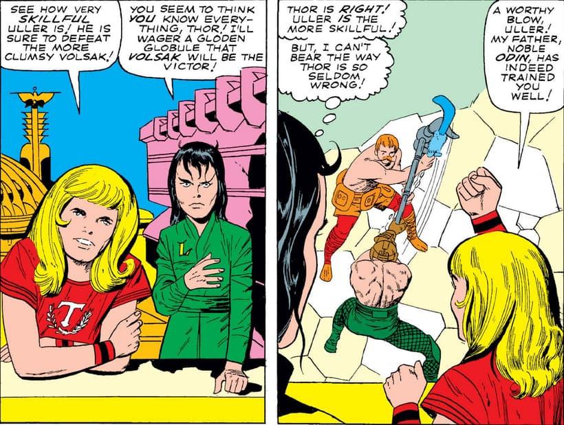 Thor and Loki as children