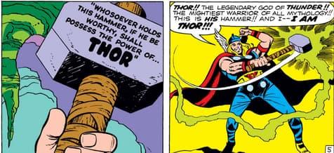 Thor wielding Mjolnir