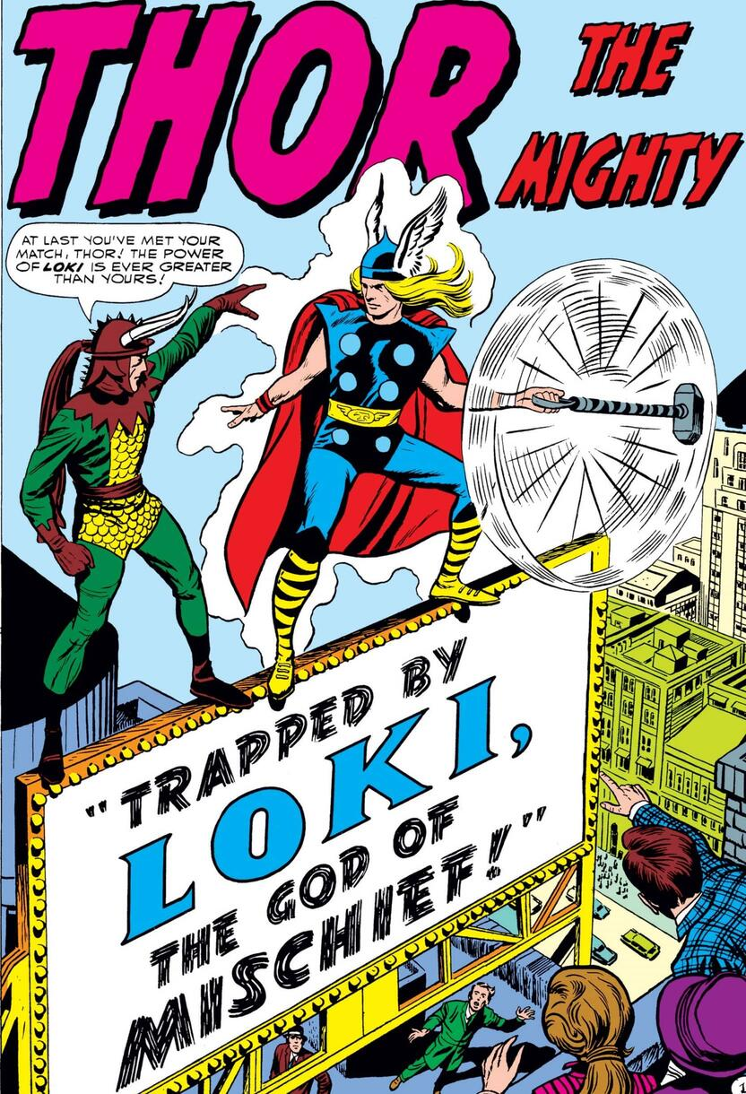Loki makes a scene and an entrance in JOURNEY INTO MYSTERY (1952) #85.