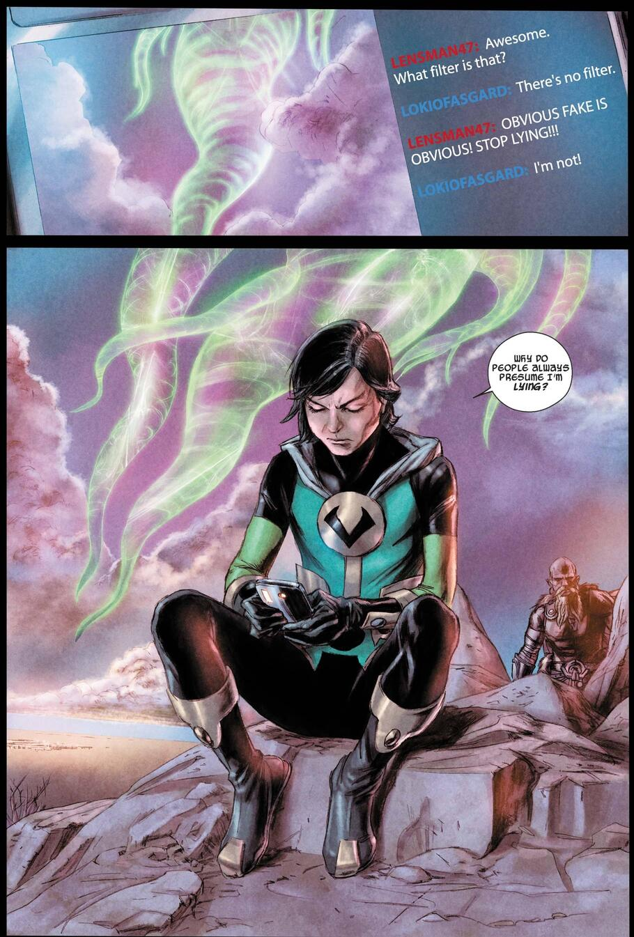 Kid Loki uses social media in JOURNEY INTO MYSTERY (2011) #622.