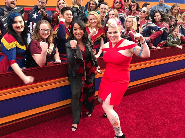 Women of Marvel on the Captain Marvel red carpet