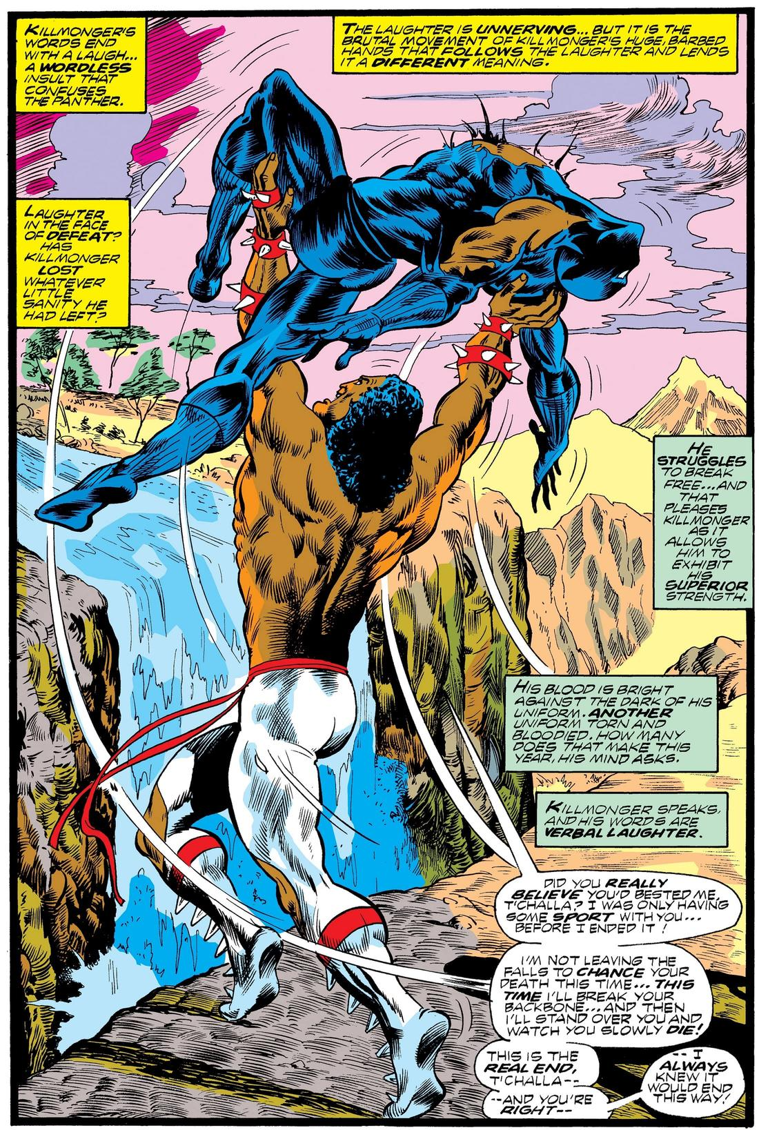 Killmonger throwing T'Challa over Warrior Falls!