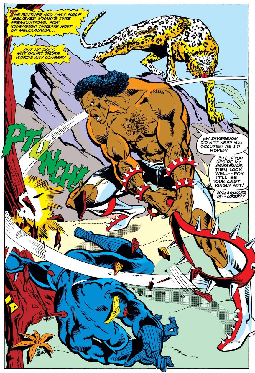 The first appearance of Killmonger in JUNGLE ACTION (1972) #6.