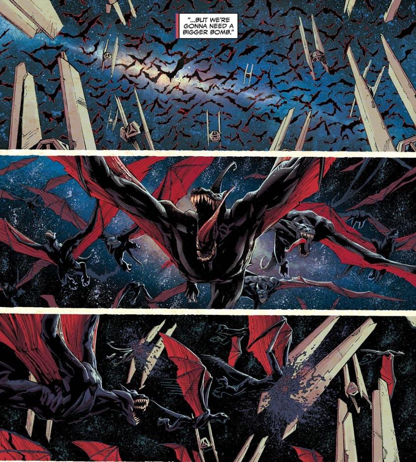 The symbiote dragons attack.
