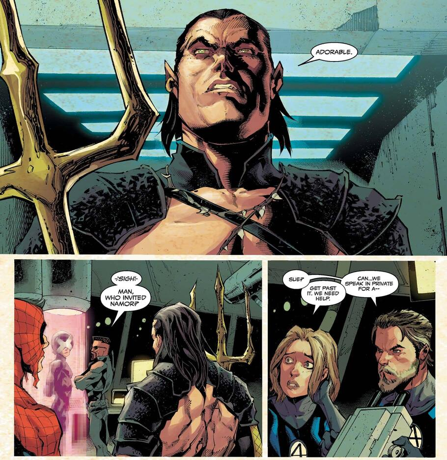 Namor enters the fray.