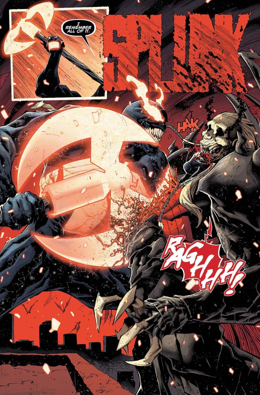 Venom versus Knull.
