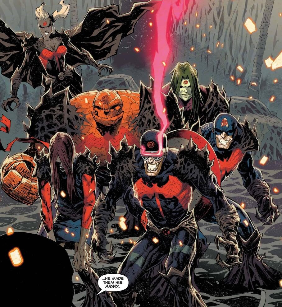 Knull's army of corrupted heroes.