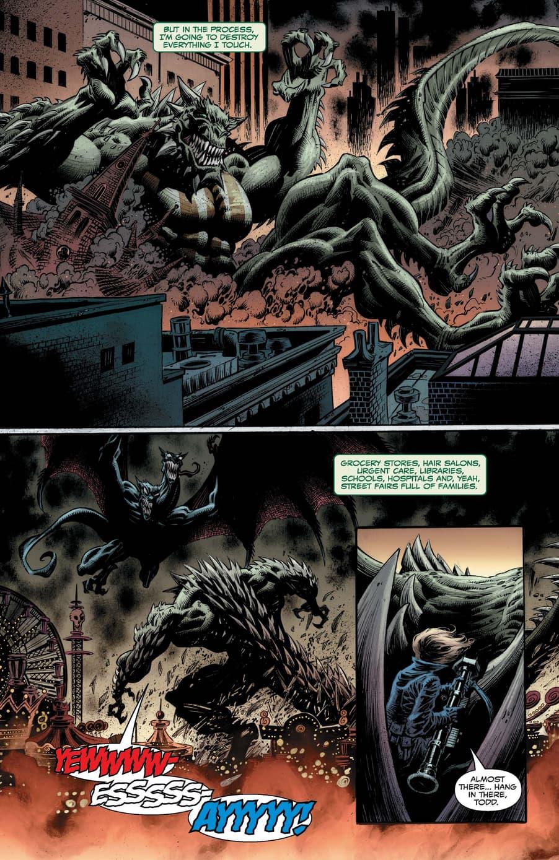 A Kaiju battle in KING IN BLACK!