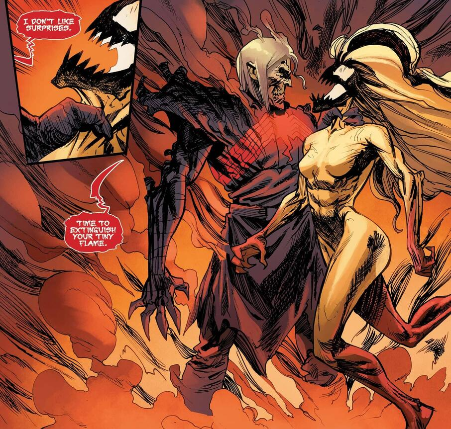 Knull confronts the Scream symbiote.