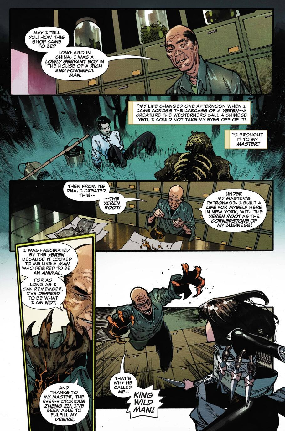 The origin of King Wild Man.