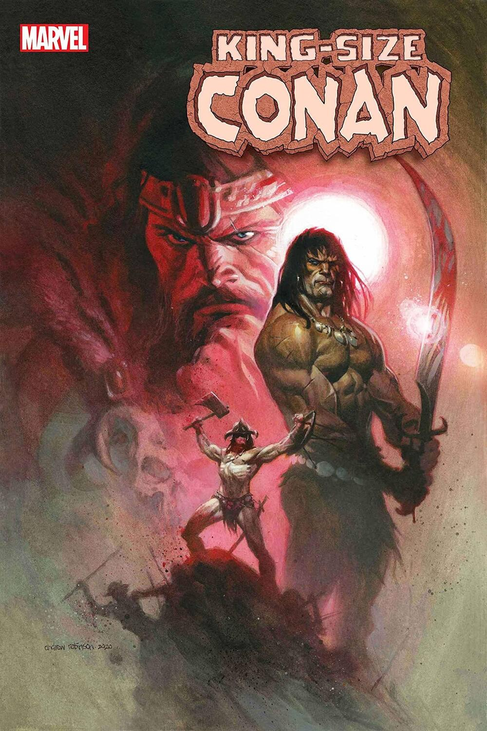 KING-SIZE CONAN #1 cover by Andrew C. Robinson