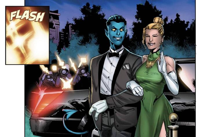 Kurt Wagner shows up the red carpet in AGE OF X-MAN: THE AMAZING NIGHTCRAWLER (2019) #1.