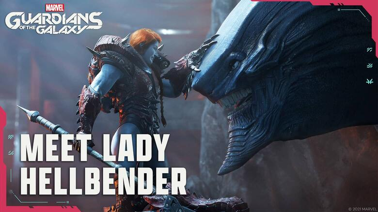 Lady Hellbender Doesn't Hold Back in the Newest Cutscene from 'Marvel's Guardians of the Galaxy'