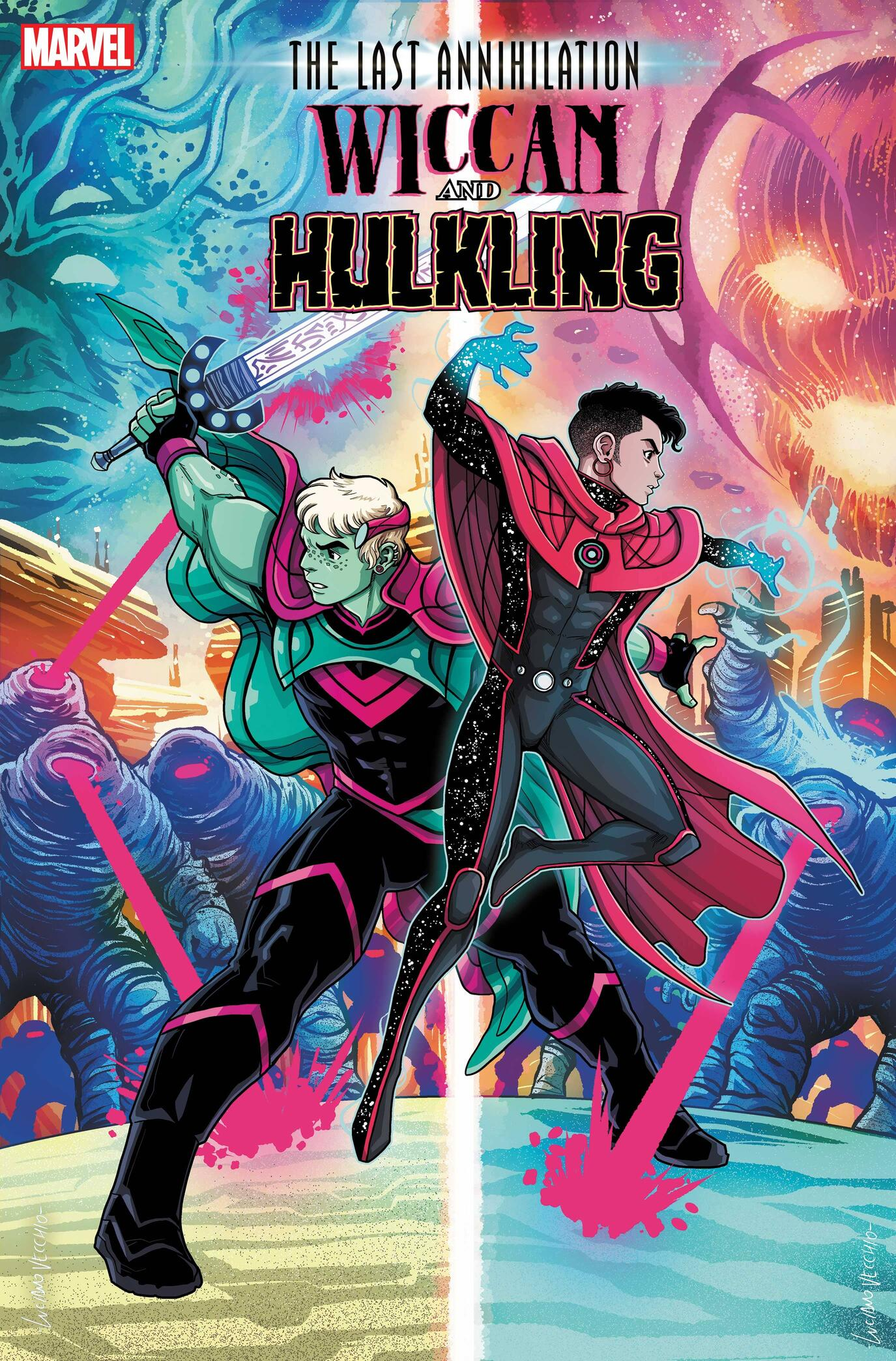 LAST ANNIHILATION: WICCAN & HULKLING #1 cover by Luciano Vecchio